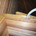Conduit for light in the prefab sauna panel