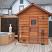 5'x6' Outdoor sauna next to hot tub