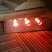 Infrared light under sauna bench