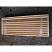 Cedar bench ready to ship (top view)
