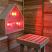Infrared Light Box in the Sauna