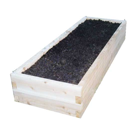 cedar raised bed garden kit 2'x6'