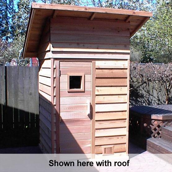 4 39 x4 39 freestanding pre fab sauna kit heater accessories for Build your own sauna outdoor