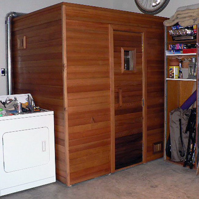 ... 4x6 sauna in the garage ...