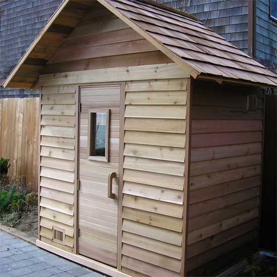 Sauna roof kit 4 39 x4 39 sauna ready to mount on sauna frame for Do it yourself outdoor sauna