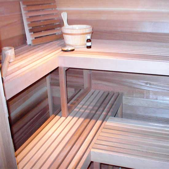 Home Sauna  5x7  Installed Interior Standard Layout. 5 x7  Home Sauna Kit   DIY Precut Sauna   Heater Package