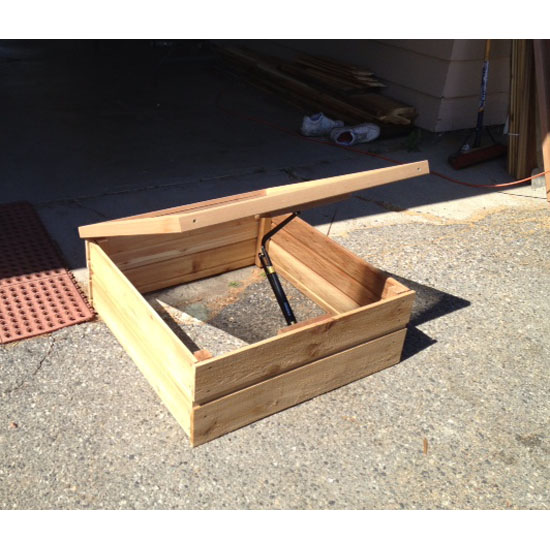 32x32 Cascade Cold Frame Wood Garden Box