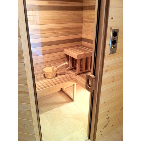 all glass sauna and steam door. Black Bedroom Furniture Sets. Home Design Ideas