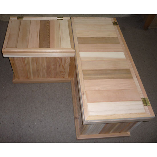 Corner Storage Benches + Cedar Chest