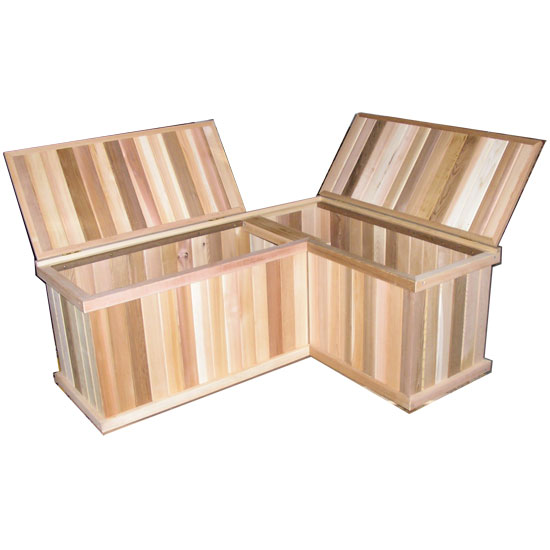 Corner Storage Benches Cedar Chest