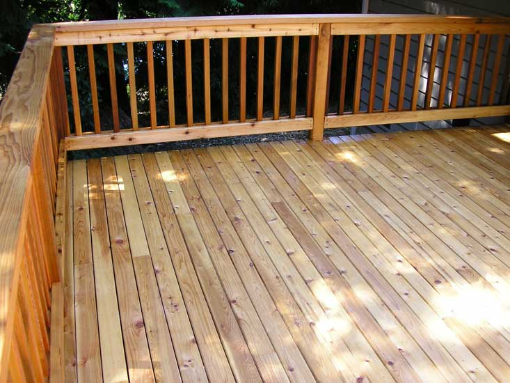 5 4 Quot X4 Quot Select Tight Knot Cedar Decking