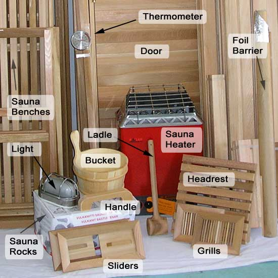 6 X 8 Outdoor Sauna Kit Heater Accessories Post