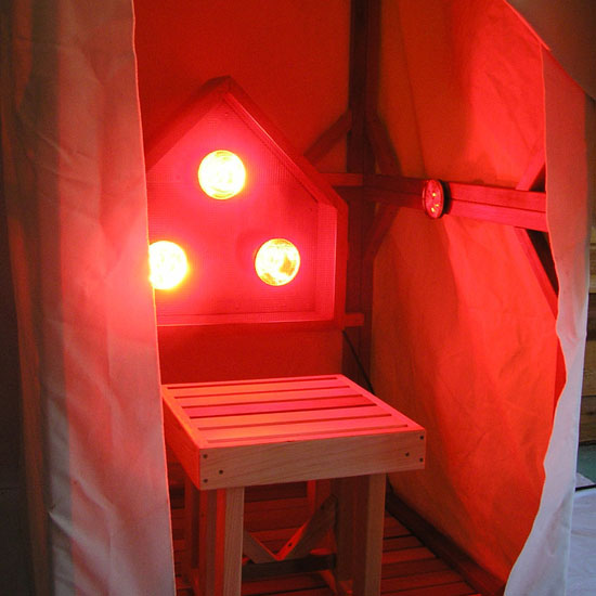 Infrared light sauna tent assembled Infrared Sauna Provides Instant Heat ... & Sauna Therapy Tent and Stool Only