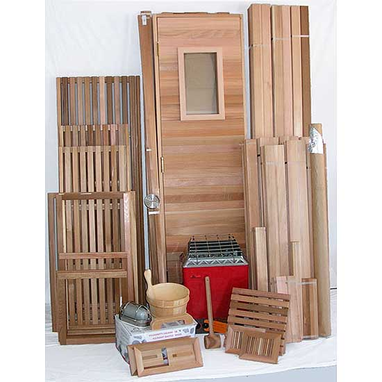 5 39 x7 39 home sauna kit diy precut sauna heater package for Sauna home
