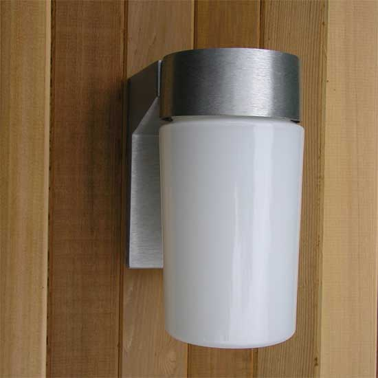 Sauna Brushed Aluminum Light & Sauna Lights | Sauna Lighting | Shades Ambiance and Safety azcodes.com