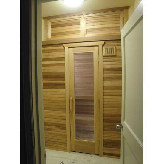 ... 55\  x 16\  sauna door note storage above ...  sc 1 st  Cedarbrook Sauna & Residential Sauna Door + 16\