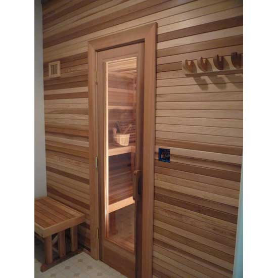 Residential sauna door 16x67 rain glass window sauna door clear glass in indoor precut sauna planetlyrics Gallery