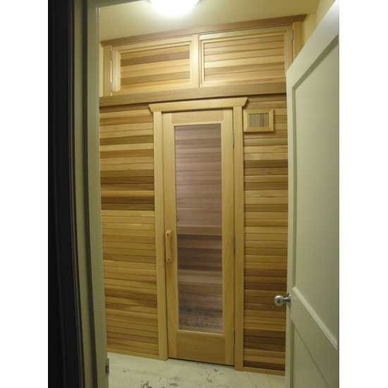 Residential sauna door 16x67 rain glass window sauna door clear glass in indoor precut sauna planetlyrics