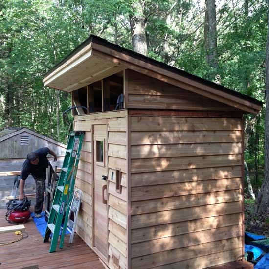 6 X 8 Outdoor Sauna Kit Heater Accessories Post
