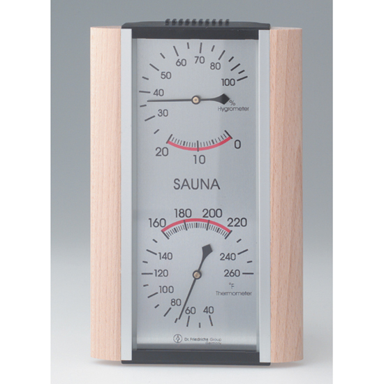 sauna thermometer hygrometer combo made in germany. Black Bedroom Furniture Sets. Home Design Ideas