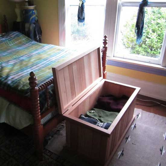 Single Storage Bench Cedar Chest