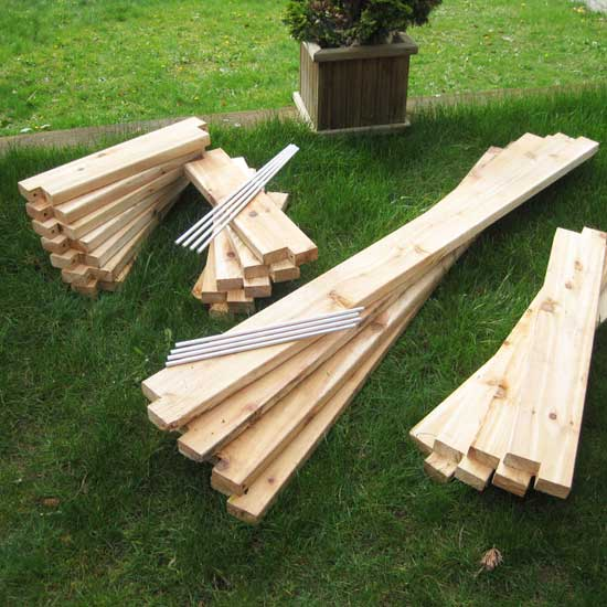 Cedar Raised Bed Garden Kits 4'x4