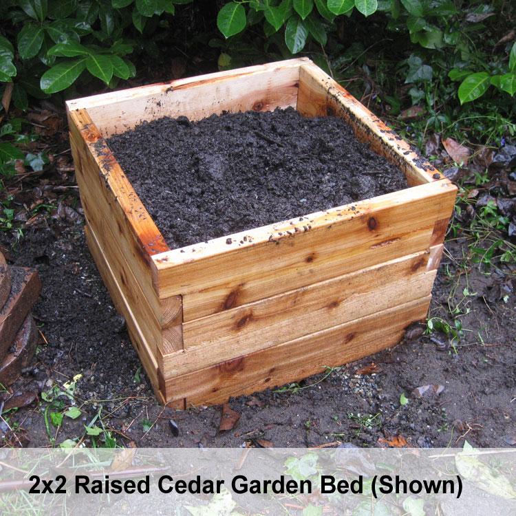 Cedar Raised Bed Garden Kits 2x3