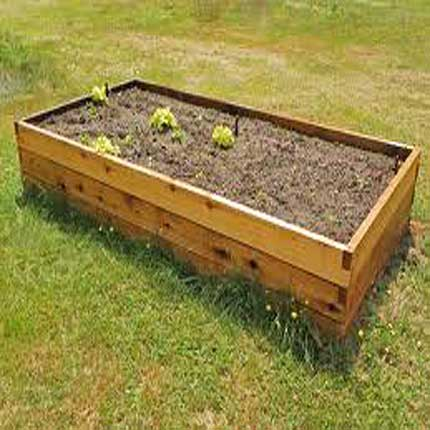2u0027x4u0027 Cedar Raised Garden Bed Kit