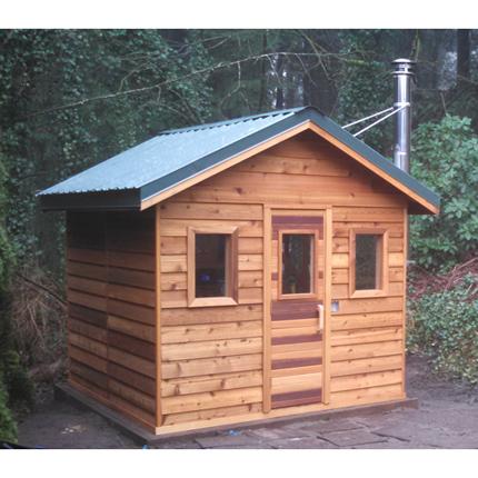 8u0027x8u0027 Outdoor Sauna Kit + Heater + Accessories