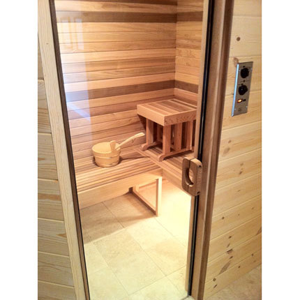 all glass sauna and steam door. Black Bedroom Furniture Sets. Home Design Ideas