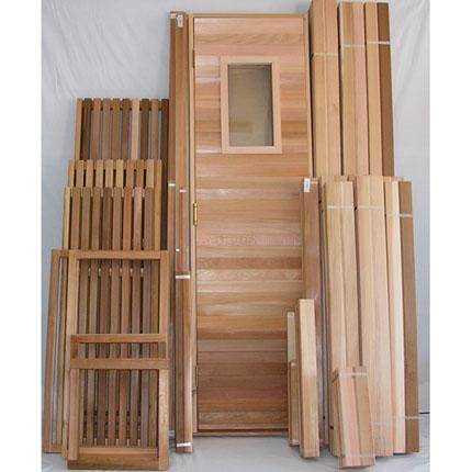 x8\' Sauna Kit | DIY Precut + Heater Package