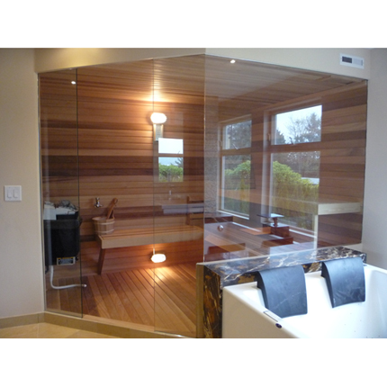 Custom sauna door with glass walls two glass sauna walls planetlyrics Images