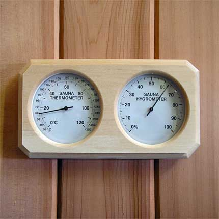 sauna thermometer hygrometer wood mount made in finland. Black Bedroom Furniture Sets. Home Design Ideas