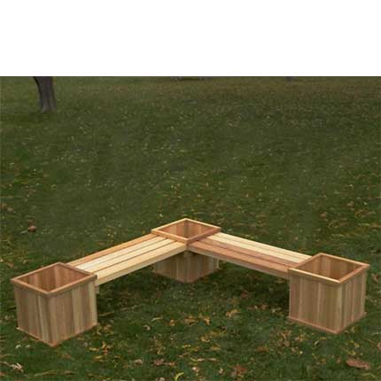 Good Cedar Corner Planter Bench