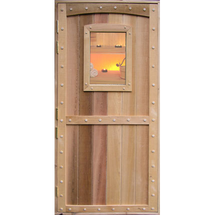 Arched and Plugged Custom Sauna Door