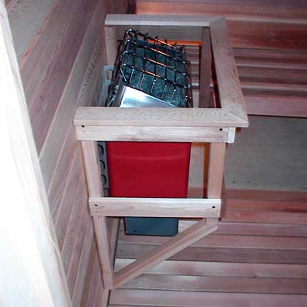 Floating Home Sauna Heater Guard Rail