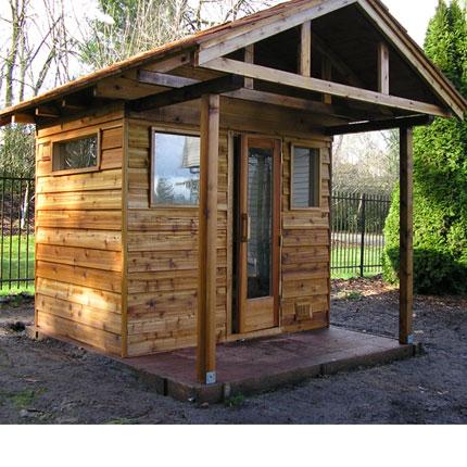Sauna roof kit 5 39 x7 39 sauna 4 39 overhang ready to for Do it yourself outdoor sauna