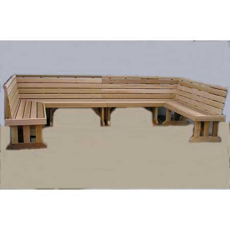 Wrap Bench around sectional cedar benches