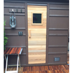 "Short Residential Sauna Door + 13"" x 13"" Window"