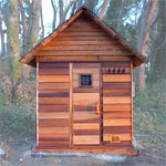 4'x6' Outdoor Sauna Kit + Heater + Accessories