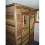 4'x5' Home Sauna Kit | DIY Precut + Heater Package