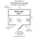Combination Electric / Infrared Modular Sauna Kit