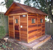 5u0027x6u0027 Outdoor Sauna Kit + 4u0027x6u0027 Anteroom + ...