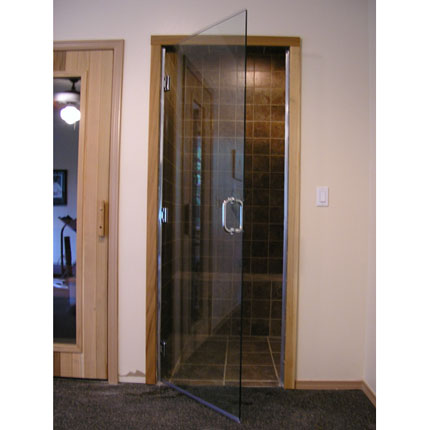 el 10 frameless glass steam room door