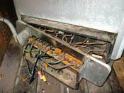 Sauna heater terminal strips