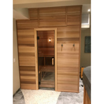All glass Sauna and Steam door