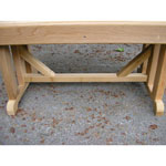"""18"""" x 36"""" Cedar Pedestal Bench"""