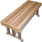 """18"""" x 30"""" Cedar Pedestal Bench"""