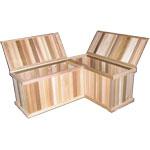 Corner Storage Benches + Cedar Chest