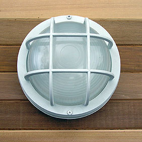 Sauna Flush Mount Marine Style Light - White